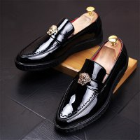 2017 New Fashion Mens Luxury Brand Leather Loafers Mens Casual Moccasins Oxfords Shoes Man Party Wedding Driving Flats