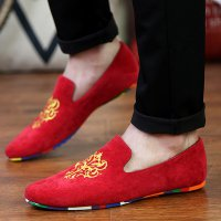 Men Loafers Luxury Brand Party Wedding Men Dress Shoes Velevet Mens Flats Casual Moccasins Fashion British Men Driving Shoes 2A
