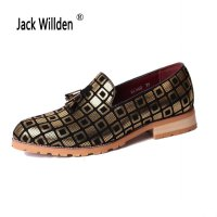 Jack Willden Men Casual Loafers Oxford Flat Shoes Mens Moccasins Shoes Wedding Party Mens Leather Shoes Casual Zapatos Hombre