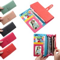 Fashion Women Korean Cute Candy Soft Leather Change Purse Long Wallet