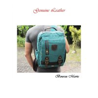 TAS KANVAS RANSEL BOURZU MARVIC 2 IN 1 Genuine Leather