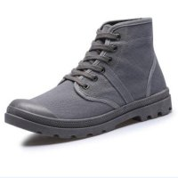 2017 Men casual shoes Ankle Military Boots Palladium Shoes Tactical Combat Boots Canvas Lace-up Spring/autumn Boots Size 38-45