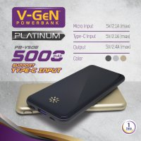Powerbank V-GeN Platinum V506 5000 mAh (Power Bank VGEN)