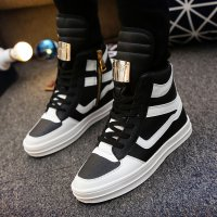 Designer Winter Men High White Casual Shoes Male Outdoor Footwear Fashion Leather Ankle Boots Men TrainersZapatos Hombe 8827