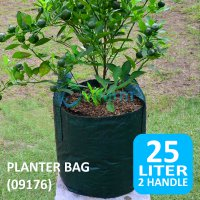 Jirifarm (09176) Planter Bag w/ Handle 25 Liter [Diameter 34cm - Tinggi 28cm]