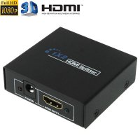 1x2 HDMI Amplifier Splitter, Support 3D & Full HD 1080P versi 1.4