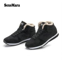 SexeMara New Unisex Men Femme Warm Plush Shoes Winter Boots Outdoor Ankle Snow Boot Casual Shoes Man Zapatillas 35-46 S021