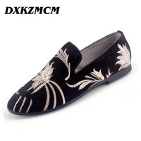 DXKZMCM Men Loafers Handmade Dress Formal Shoes Luxury Men Flats Slip-on Men oxfrods Party and Wedding Shoes