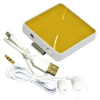 Mediatech Bluetooth Audio Receiver Stereo Earphone - Gold
