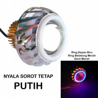 LED Lampu Projector Tipe U14-LP8 / LED Proji Light Angel Eye+Devil Eye / Proji