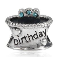 [macyskorea] The Kiss March Birthday Cake 925 Sterling Silver Bead Fits Pandora Charm Brac/9542809