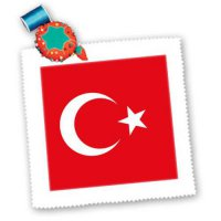 [macyskorea] 3dRose qs_159817_4 Flag Turkey-Turkish Red and White Crescent Moon and Star M/1841847