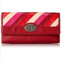 Fossil Marlow Flap Clutch Red