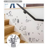 [globalbuy] Cartoon black cat cute DIY Vinyl wall stickers For Kids Rooms Home Decor Art D/4489294