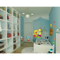 [globalbuy] Party Singing Dacning Elephant Dog Cat Giraffe Bear Cartoon Wall Stickers For /4489081