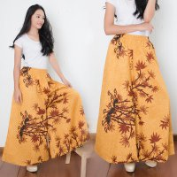 Cj collection Celana kulot batik rok panjang wanita jumbo long pant Delisia