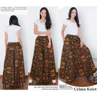 Cj collection Celana kulot batik rok panjang wanita jumbo long pant Evika
