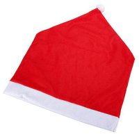 [globalbuy] Set of 6 Santa Clause Red Hat Chair Back Covers for Christmas Dinner Decor/4440058