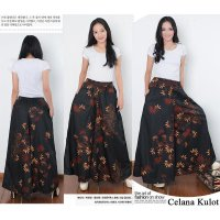 Cj collection Celana kulot batik rok panjang wanita jumbo long pant Natalie