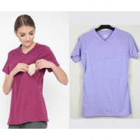 Just Mom Baju Menyusui Elena Light Purple