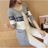 JC900 Gray |Cardigan Coat import minimalis high quality lengan panjang