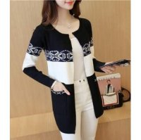 JC899 Black|Cardigan Coat import minimalis high quality lengan panjang