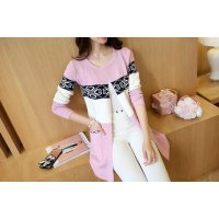 JC896 Pink |Cardigan Coat import minimalis high quality lengan panjang