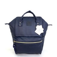 Anello Original Backpack PU Leather Medium - Navy