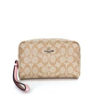 Coach Boxy Cosmetiq Case In Signature - Cream Pink