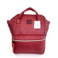 Anello Original Backpack PU Leather Medium - Maroon