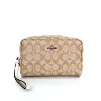 Coach Boxy Cosmetiq Case In Signature - Cream