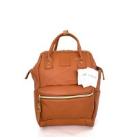Anello Original Backpack PU Leather Small - Camel