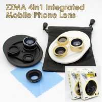 ZZMA 4in1 Lens Fish Eye, Super Wide, Macro, & CPL for A