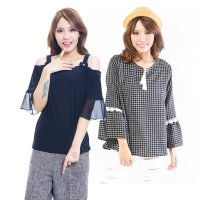 Koleksi Blouse Stylish Wanita / blouse chiffon & katun - 4 Model