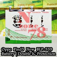 Baterai Oppo Find 5 New BLP539 Flexible Kepala Besi Double IC Protection
