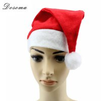 [globalbuy] 5pcs/lot Christmas Ornaments Adult Kids Christmas Hat Red Santa Hats Children /4417850