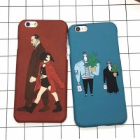 MAYO CASE iPhone 5, 5s, SE, 6, 6s, 6+ Couple Blue Maroon Cute Hard Case Casing HP - Maroon