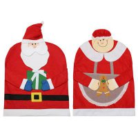 [globalbuy] NEW1pcs Santa Clause Cap Red Hat Furniture Chair Back Cover Christmas Dinner T/4417315