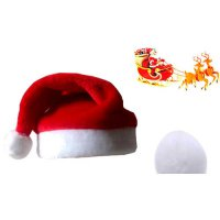 [globalbuy] 5pcs New Year Adult Christmas Hat Caps Santa Claus Xmas Cotton Cap with ball C/4417046