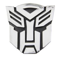 Transformers Autobot Chrome Car Sticker Emblem - Stiker Mobil - Small