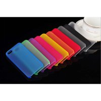 iPhone 5 5s SE 6 6s Ultrathin Hard Case Candy Colors Colours Blue Black Red Hitam Merah Hijau Biru