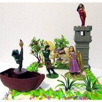 [poledit] Tangled Birthday Cake Topper Set Featuring Pascal, Rapunzel, Mother Gothel, Flyn/13152057