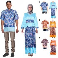 Sarimbit Batik Couple Gamis Permana