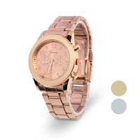 Geneva Ladies Women Girl Unisex Stainless Steel Quartz Wrist Watch