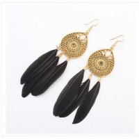 anting etnik bulu tassel feather fur bali bohemia bohemian boho korea sj0045