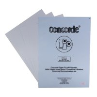 CONCORDE LAID 80204, 90 GSM, A4, 20 SHEETS/PACK, SKY BLUE, 1 PACK