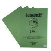 CONCORDE, CONCORDE LAID 80200, 90 GSM, A4, 20 SHEETS/PACK, MINT GREEN,