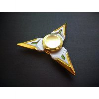 Fidget Spinner Hand Spinner Metal 3 Side Genji Shuriken Gold