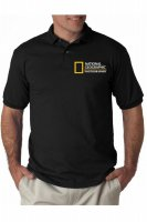 polo shirt national geographic photographer - hitam