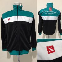 Jaket Dota2 International Black Green 2017
